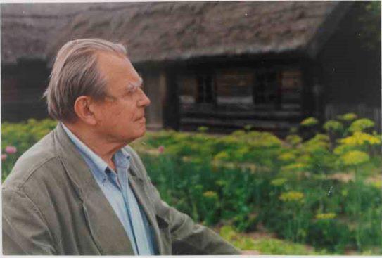Czesław Miłosz Szetejnie 1995 chata Zdjęcie