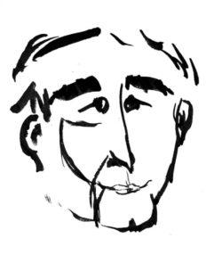 Jan Kosiński, Autoportret tuszem